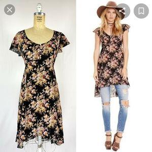 Denim & Supply Floral Hi Lo Midi Dress
